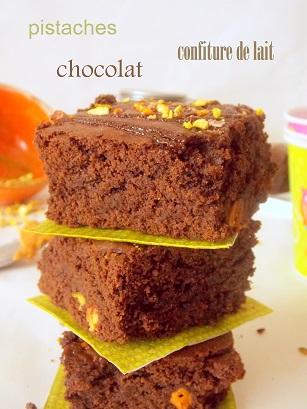 Brownies à la confiture de lait {Dulce de Leche}