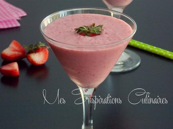 milk-shake aux fraise