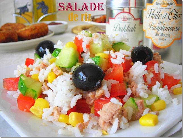 Salade de riz facile le blog cuisine de samar - Recette de cuisine antillaise facile ...