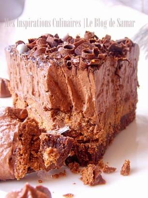 gateau mousse au chocolat comme un trianon le blog cuisine de samar. Black Bedroom Furniture Sets. Home Design Ideas