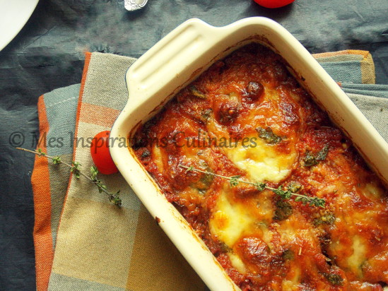 Gratin d 39 aubergines la mozzarella le blog cuisine de samar - Cuisiner aubergine a la poele ...