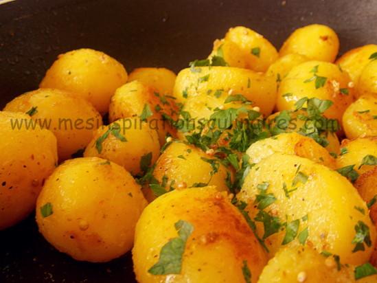 Pommes de terre saut es au persil et moutarde le blog - Graines de potimarron grillees a la poele ...