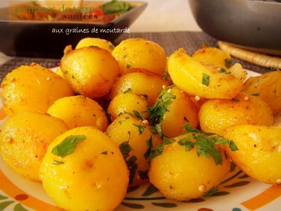 pommes de terre saut es au persil et moutarde le blog cuisine de samar. Black Bedroom Furniture Sets. Home Design Ideas