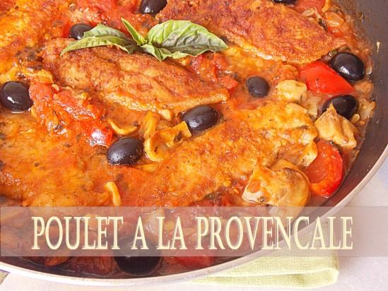 Recette Poulet à la sauce provençale
