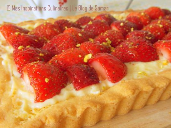 Tarte aux fraises avec crème patissière