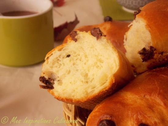 Pain viennois facile (aux pepites de chocolat)