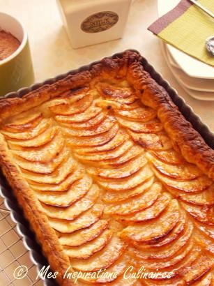 tarte fine aux pommes la p te feuillet e le blog cuisine de samar. Black Bedroom Furniture Sets. Home Design Ideas