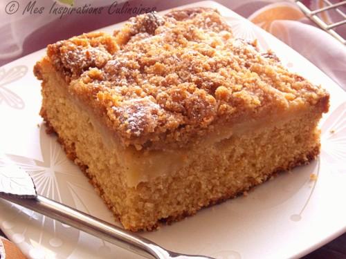 Gâteau façon crumble aux pommes