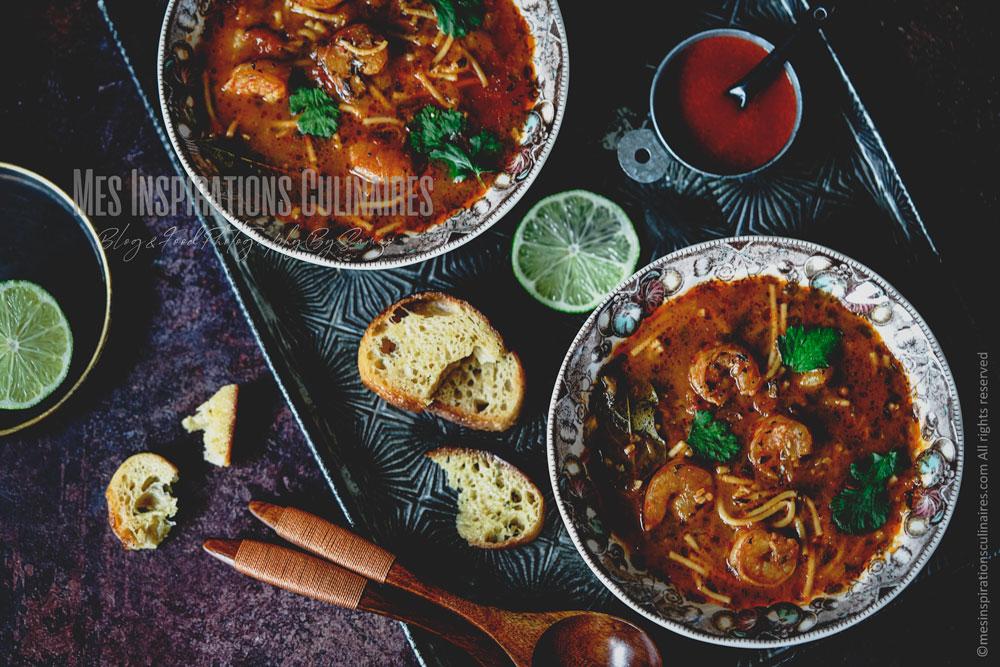 Soupe aux crevettes chorba algerienne