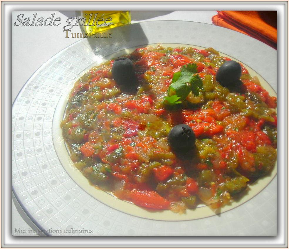 salade grill e tunisienne le blog cuisine de samar. Black Bedroom Furniture Sets. Home Design Ideas
