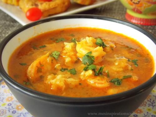 Soupe aux crevettes (شربة القمرون او الجمبري )
