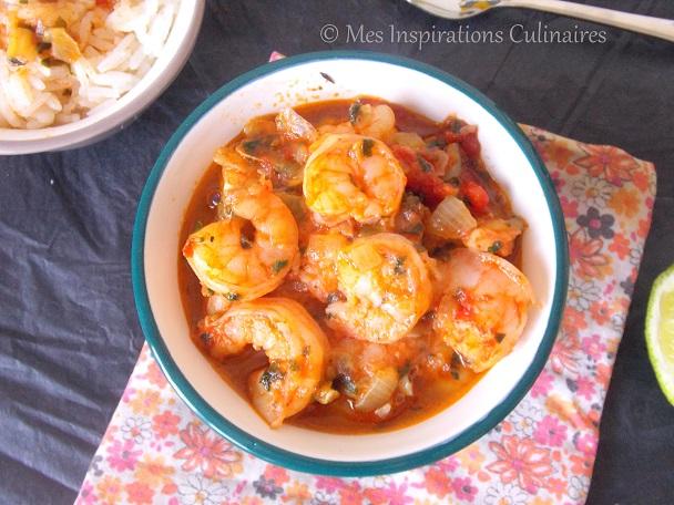 Fricassee de crevettes : recette Antillaise