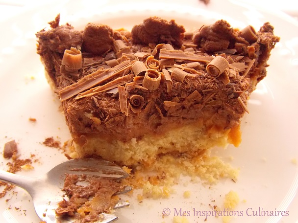 Tarte au caramel beurre salé, mousse au chocolat