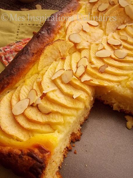 Tarte briochée aux pommes et crème patissiere