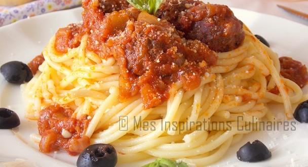 Spaghetti aux boulettes de viande a l 39 italienne le blog - Cuisine italienne blog ...