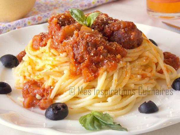 Spaghetti aux boulettes de viande a l 39 italienne le blog cuisine de samar - Blog de cuisine italienne ...