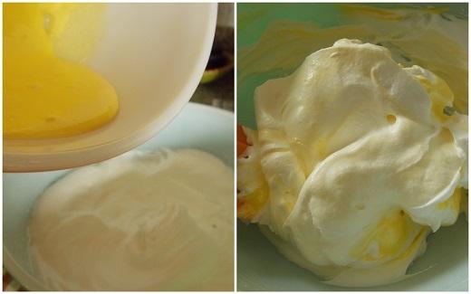 Incorporer les jaunes aux blanc d'oeuf