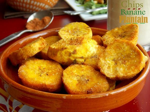 Chips de banane plantain le blog cuisine de samar - Cuisiner des bananes plantain ...