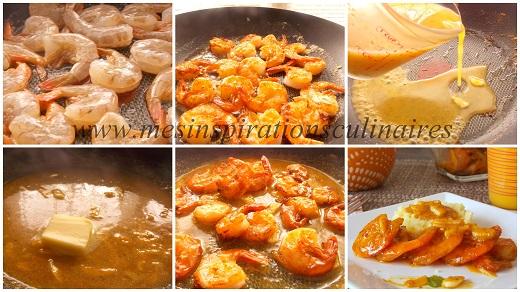 crevettes sauce a l'orange