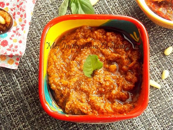 pesto rouge tomate et basilic