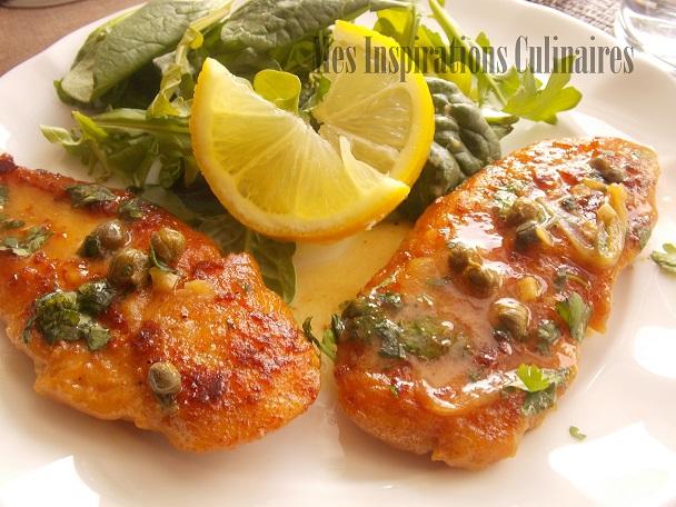 Poulet piccata / escalope sauce au citron