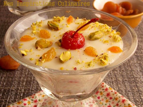 mhalbi creme dessert au riz pour ramadan le blog cuisine de samar. Black Bedroom Furniture Sets. Home Design Ideas