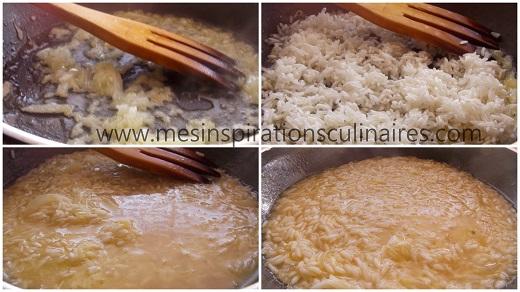 Risotto cremeux aux asperges, citron et parmesan