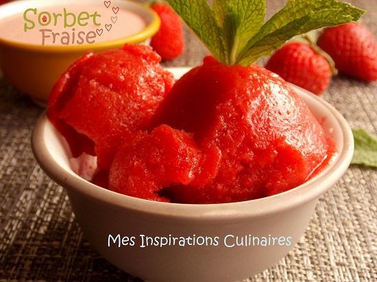 Sorbet aux fraises sans sorbetiere