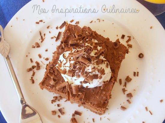 Brownie mousse au chocolat hyper gourmand