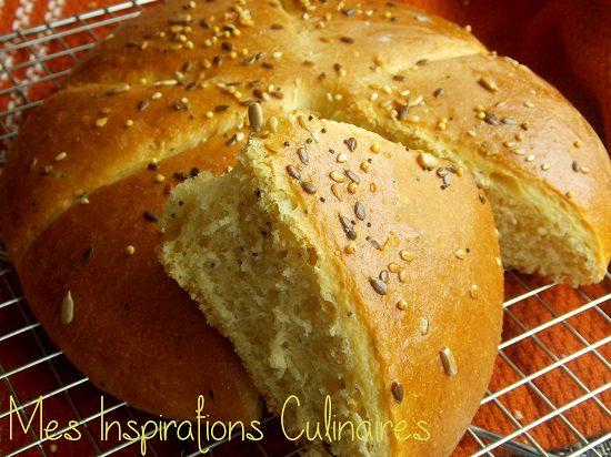 Khobz dar à la semoule {pain maison}