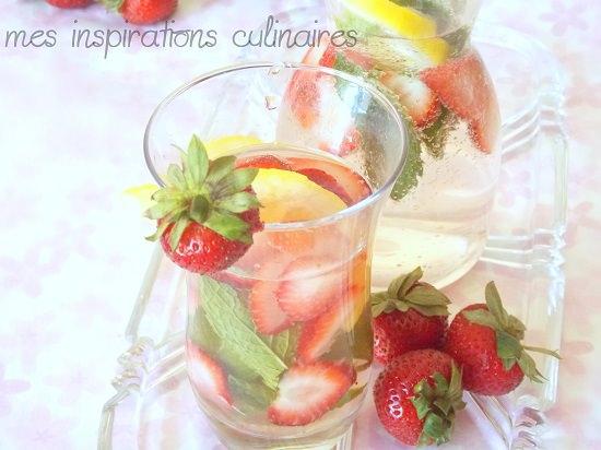 Soda aux fraises citron et menthe