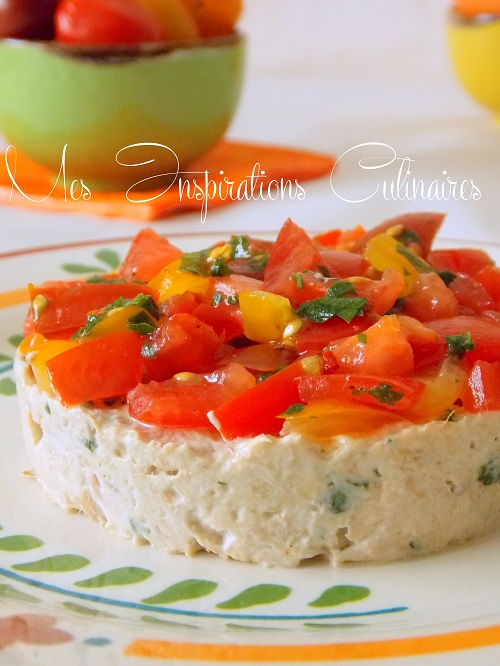 tartare de tomates aux rillettes de thon le blog cuisine de samar. Black Bedroom Furniture Sets. Home Design Ideas