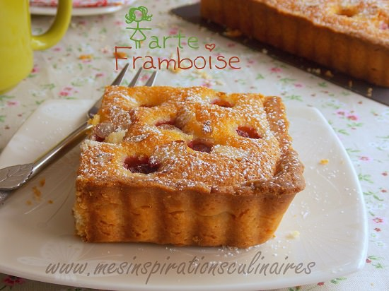 tarte aux framboises cr me d 39 amandes le blog cuisine de samar. Black Bedroom Furniture Sets. Home Design Ideas