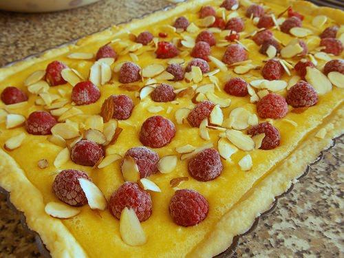 tarte a la framboise et crème recette facile