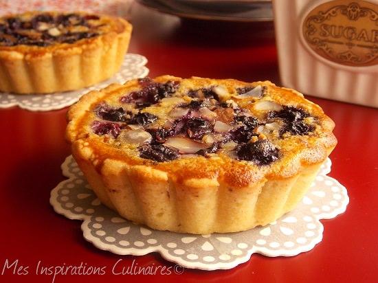 Tarte aux myrtilles (tartelettes aux blueberry)