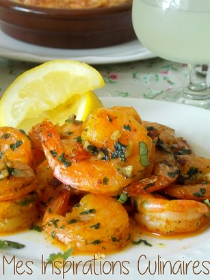 Crevettes sautees a la chermoula