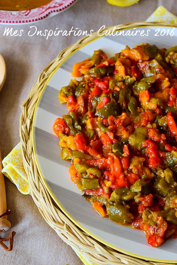 recette Hmisse, hmiss, salade mechouia recette kabyle