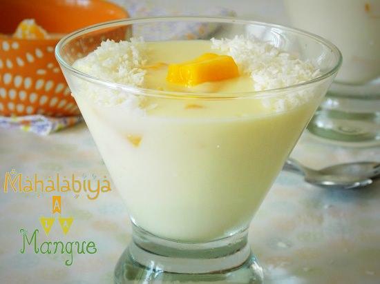 Mahalabiya, creme dessert egyptien