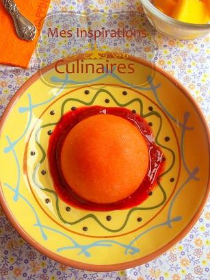 Sorbet a la mangue, framboise sans sorbetiere