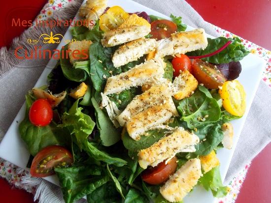 Salade de poulet grillé froid