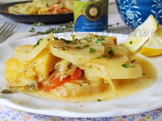 Recette de morue a la tomate et aux pommes de terre le blog cuisine de samar - Comment cuisiner des pommes de terre ...
