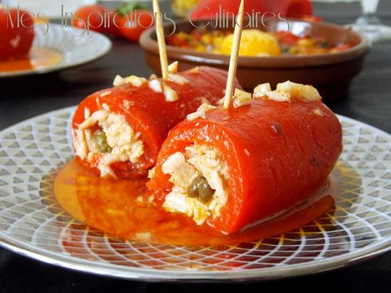 Roulés de poivron au thon recette tapas