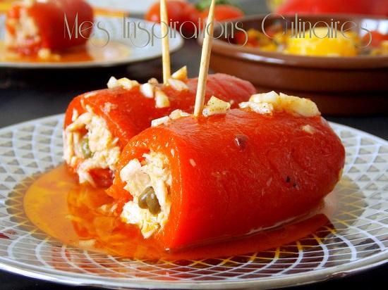 Roulés de poivron rouge au thon