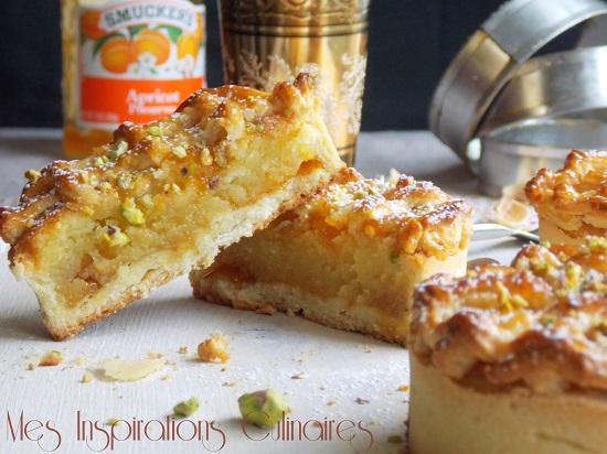 tarte alcazar aux amandes et aux abricots