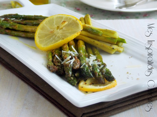Asperges grillées au citron et parmesan