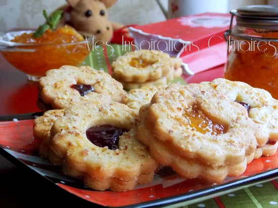 Biscuits façon tarte linzer à la marmelade d'orange