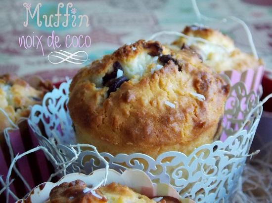 muffins a la noix de coco et pepites de chocolat