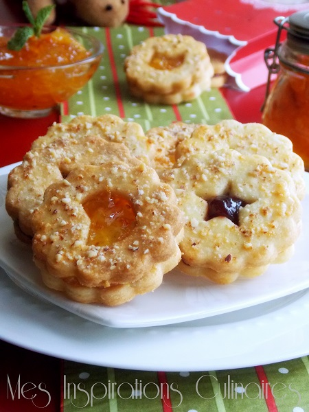 Biscuits Sablés linzer à la marmelade d'orange