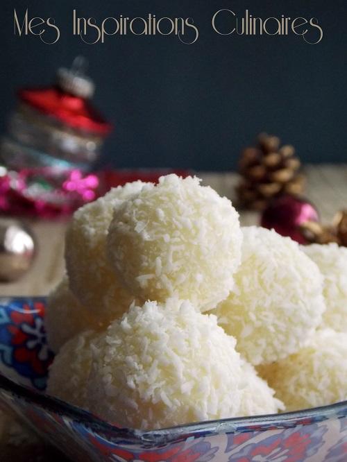 Truffes noix de coco