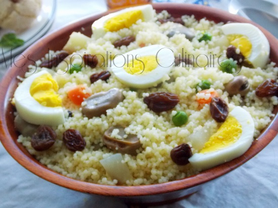 couscous kabyle aux légumes vapeurs
